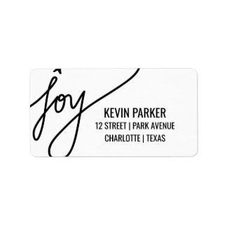 Joy Casual Black Typography Holiday
