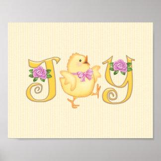 JOY - Chick - Yellow Poster