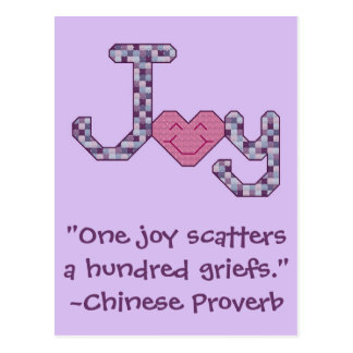Joy Chinese Proverb Postcard