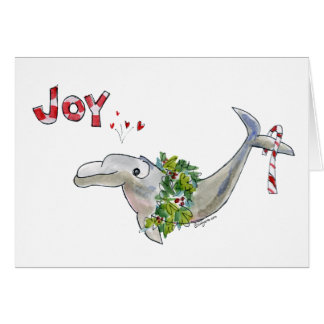 Joy Christmas Dolphin Porpoise of Life Card