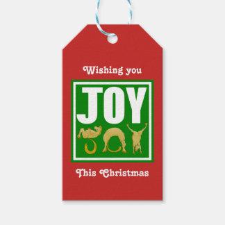 Joy Christmas Ponies Gift Tags