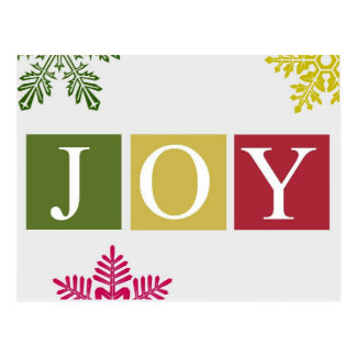 Joy Christmas Snowflakes Postcard