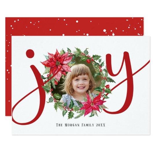 JOY Christmas Wreath Card