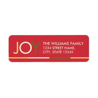 'JOY' Colorful Festive Christmas
