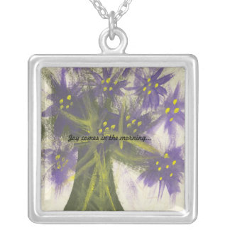 Joy Comes in the Morning (2) Silver Plated Necklace