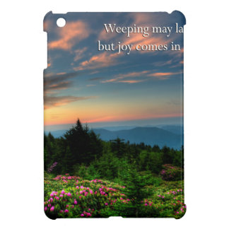 joy comes in the morning iPad mini cases