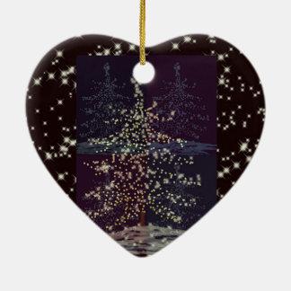 Joy Customizable Template Ceramic Heart Ornament