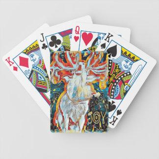Joy Decorated Caroling Deer Bicycle Playing Cards