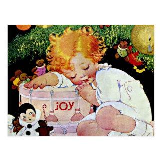 Joy, Edwardian Christmas Postcard
