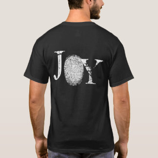 Joy Fingerprint Graphic Dark Mens T-shirt