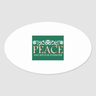 Joy For Everyone Oval Sticker
