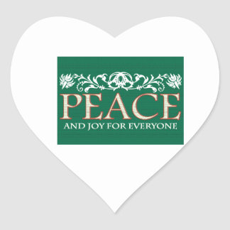Joy For Everyone Heart Sticker