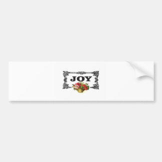 joy frames with flowers bumper sticker