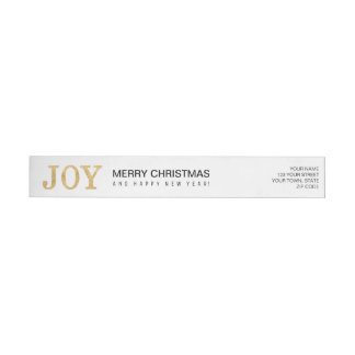 JOY (gold) Wrap Around Label