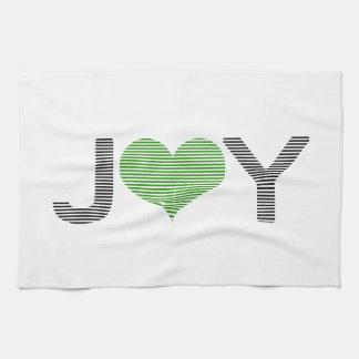 Joy - heart - black and green. kitchen towel