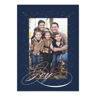 Joy holiday photo card