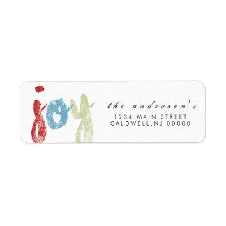 Joy | Holidays Return Address Label