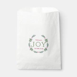 JOY HOLLY WREATH FAVOUR BAG