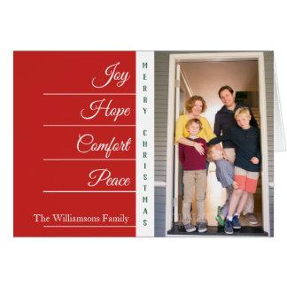Joy Hope Comfort - Christmas   Folded Card