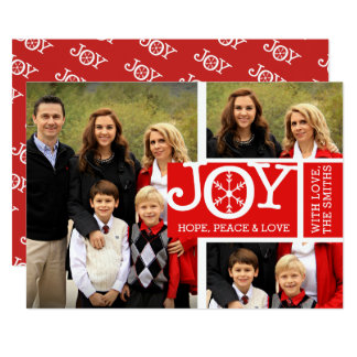 Joy Hope Peace & Love Photo Christmas Card