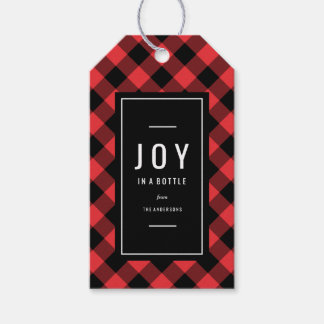 Joy in a Bottle Holiday Wine Gift Tags
