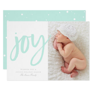 Joy In Mint | Photo Holiday Card
