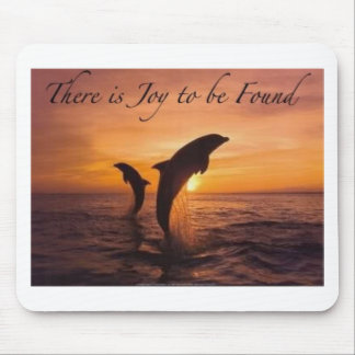 joy in the world of dolphins mouse pad