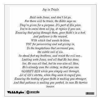 Joy in Trials - Basic Wall Decal