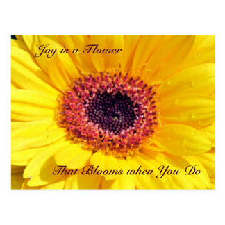 Joy is a Flower Postcard