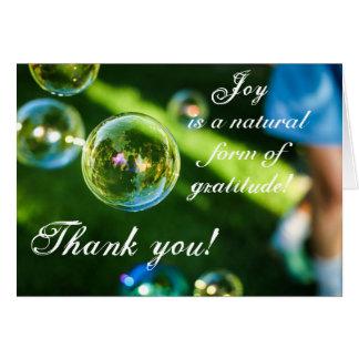 Joy is Gratitude Thank you Greeting card