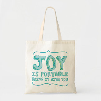 Joy is Portable Bag in Seafoam green