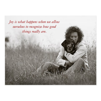 Joy is what happens when w... postcard