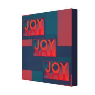 JOY JOY JOY by Lin Masters-Red/Blue/Orange/Teal Canvas Print