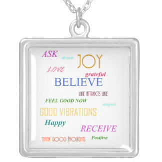 """JOY"" Law of Attraction Silver Plated Necklace"