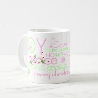 Joy, Love and Ho Ho Ho Holiday Coffee Mug