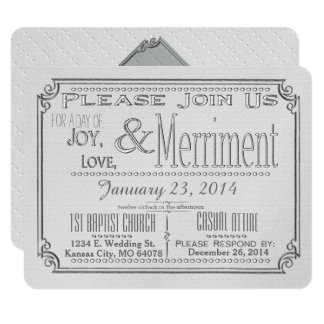 Joy, Love, and Merriment custom wedding invites