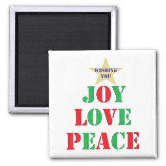 Joy Love Peace Fridge Magnet