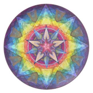 Joy Mandala Art Plate