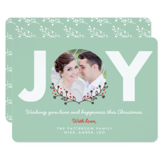 JOY Mint | Holiday Photo Card