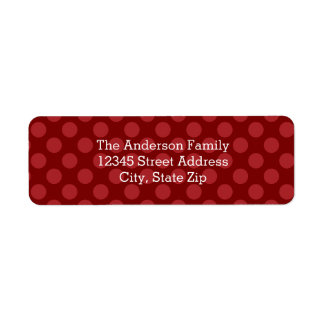 Joy Mod Dots - Address Label