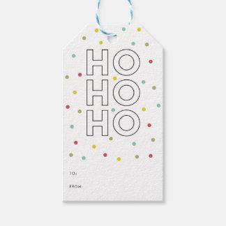 Joy Modern Typography Holiday Gift Tag