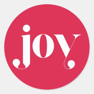 Joy Modern Typography Holiday Sticker I