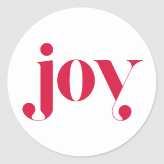 Joy Modern Typography Holiday Sticker II