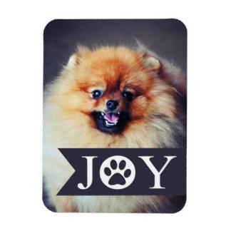 Joy Navy Banner Pet Photo Holiday Magnet