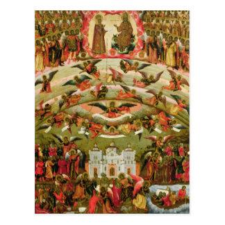 Joy of all who Sorrow Virgin, 1707 Postcard