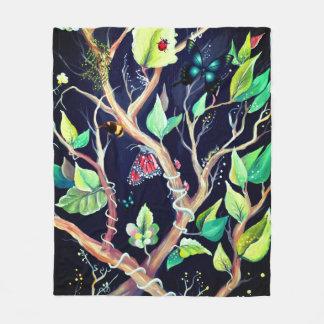 Joy of butterflies – black background fleece blanket