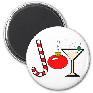 Joy Of Christmas 2 Inch Round Magnet