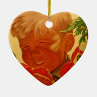 Joy of Good Eating Ceramic Heart Ornament
