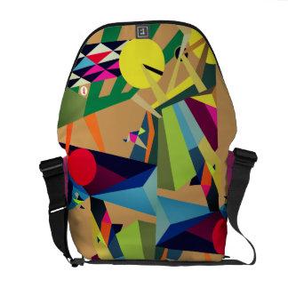 Joy of Life Unique Design by Raluca Nedelcu Messenger Bags
