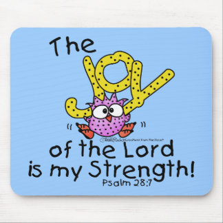 Joy of the Lord Pink Owl Mouse Pad